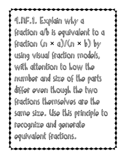 4.NF.1. Explain why a fraction a/b is equivalent to a