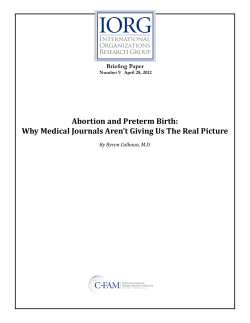 IORG C FAM  Abortion and Preterm Birth: