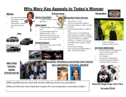 Why Mary Kay Appeals to Today's Woman Money Recognition Advancement