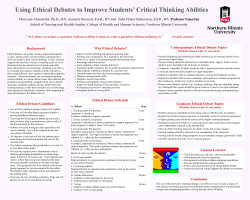 Using Ethical Debates to Improve Students' Critical Thinking Abilities Background