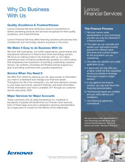 Why Do Business With Us Quality, Excellence & Trustworthiness The Finance Process