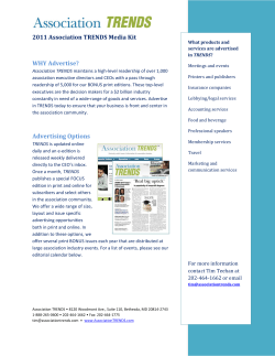 2011 Association TRENDS Media Kit    WHY Advertise?