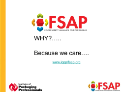 WHY?….. Because we care…. www.iopp/fsap.org