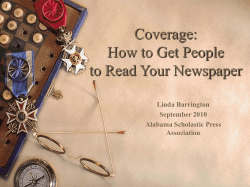 Coverage: How to Get People to Read Your Newspaper Linda Barrington