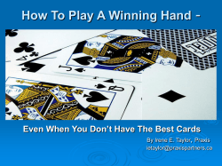 - How To Play A Winning Hand ,