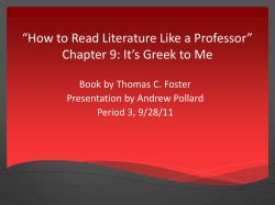 """How to Read Literature Like a Professor"" Presentation by Andrew Pollard"