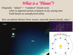 "What is a ""Planet""?"