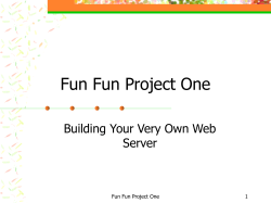 Fun Fun Project One Building Your Very Own Web Server 1