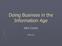 Doing Business in the Information Age John Corker GENL0230