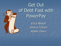 Get Out of Debt Fast with PowerPay Erica Abbott