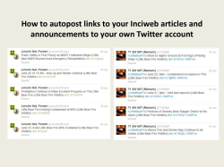 How to autopost links to your Inciweb articles and