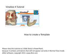 Viewbox 4 Tutorial How to create a Template