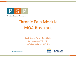 Chronic Pain Module MOA Breakout Barb Aasen, Family Tree Clinic