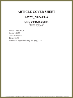 ARTICLE COVER SHEET LWW_NEN-FLA SERVER-BASED