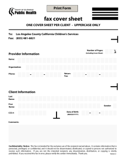 fax cover sheet - 1 Print Form