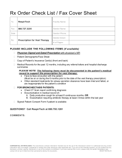 Rx Order Check List / Fax Cover Sheet  (if available)
