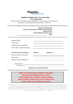 Magellan Complete Care: Fax Cover Sheet