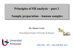 Principles of FR analysis – part 2 Dr. Adrian Covaci