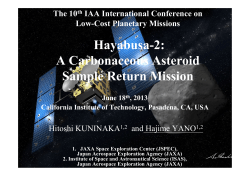 Hayabusa-2: A Carbonaceous Asteroid Sample Return Mission The 10