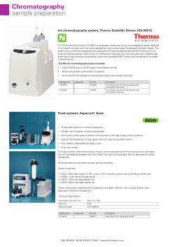Chromatography sample preparation Ion chromatography system, Thermo Scientific Dionex, ICS-900 IC