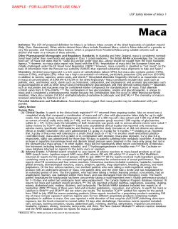 Maca DSC USP Safety Review of Maca