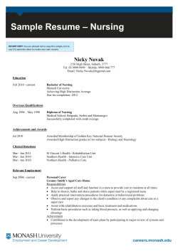 – Nursing Sample Resume  Nicky Novak