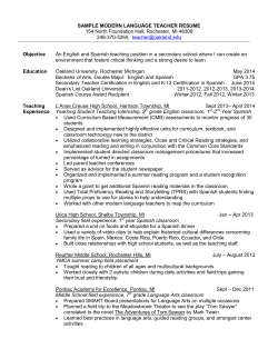 SAMPLE MODERN LANGUAGE TEACHER RESUME  Objective