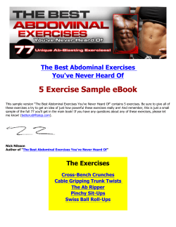 5 Exercise Sample eBook The Best Abdominal Exercises You've Never Heard Of