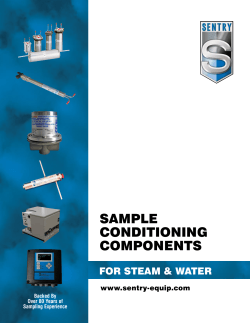 SamplE Conditioning ComponEntS for StEam & watEr