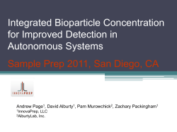 Integrated Bioparticle Concentration for Improved Detection in Autonomous Systems