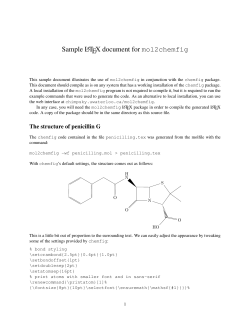 Sample L TEX document for mol2chemfig A