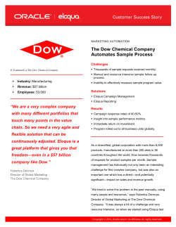 The Dow Chemical Company Automates Sample Process  Challenges