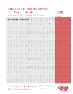 2000 Public Use Microdata Sample, U.S. Virgin Islands