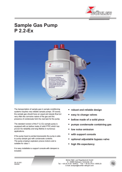 Sample Gas Pump P 2.2-Ex § robust and reliable design