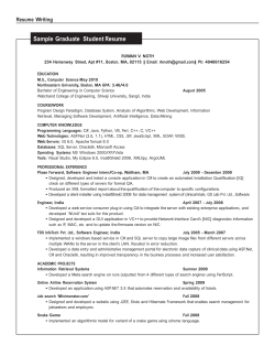 Sample Graduate  Student Resume  Resume  Writing RUWAN V. NOTH