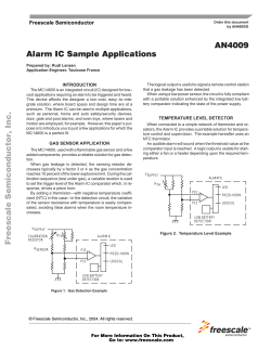 AN4009 Alarm IC Sample Applications  INTRODUCTION