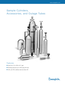 Sample  Cylinders, Accessories,  and  Outage  Tubes Features