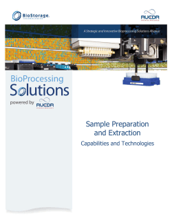 Sample Preparation and Extraction  Capabilities and Technologies
