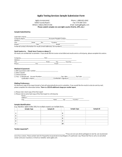 Agdia Testing Services Sample Submission Form