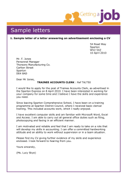 1. Sample letter of a letter answering an advertisement enclosing...