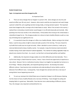 Student Sample Essay 1