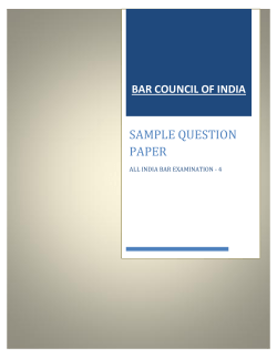 SAMPLE QUESTION PAPER BAR COUNCIL OF INDIA