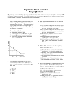 Major Field Test in Economics Sample Questions