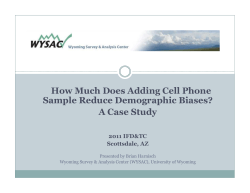 How Much Does Adding Cell Phone Sample Reduce Demographic Biases? d