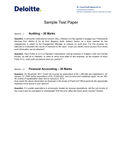 Sample Test Paper – 20 Marks Auditing