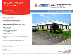 1316 COLLEGE AVE ELMIRA, NY 14901 TRINITY PARK OFFICE/FLEX SPACE PROPERTY FEATURES