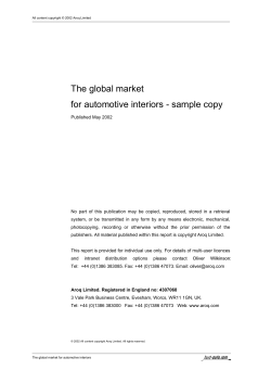 The global market - sample copy for automotive interiors