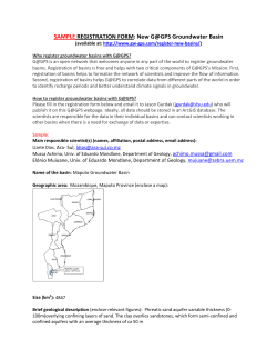 SAMPLE REGISTRATION FORM: New G@GPS Groundwater Basin