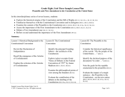 Grade Eight, Unit Three Sample Lesson Plan