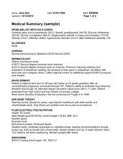 (sample)  Medical Summary